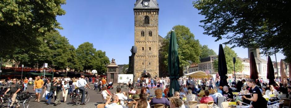 Oude Markt Enschede, op 850 meter van Room Escape Enschede